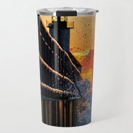 Sunset SPLASH At The Lighthouse Travel Mug