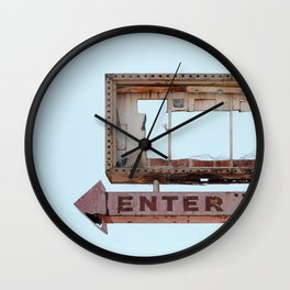 Vintage Neon Sign Wall Clock