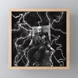 Frankenstein Electric Framed Mini Art Print
