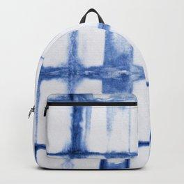 Shibori Blue - Rectangles Backpack