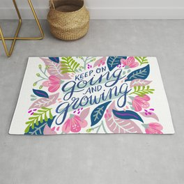 Keep on Going & Growing – Dusty Rose Rug