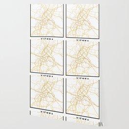 VIENNA AUSTRIA CITY STREET MAP ART Wallpaper
