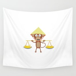 Vietnamese monkey Wall Tapestry
