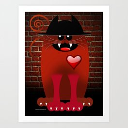 BIG RED Art Print