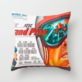 Grand Prix 1966 Throw Pillow