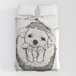 Hedgehog snuggle Comforters