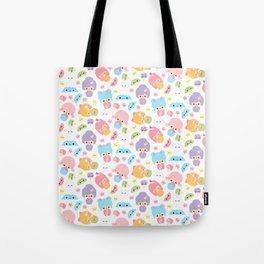 Kawaii Kokeshi J-Pop!  (Pastel) Tote Bag
