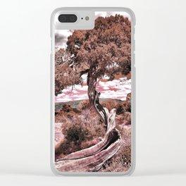 Twisted Juniper (Sepia) Clear iPhone Case