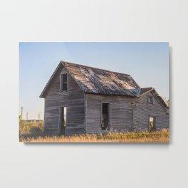 Falling Farm House, North Dakota 6 Metal Print