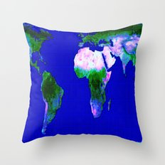 World Map : Gall Peters Throw Pillow