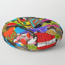 african market 1 Floor Pillow
