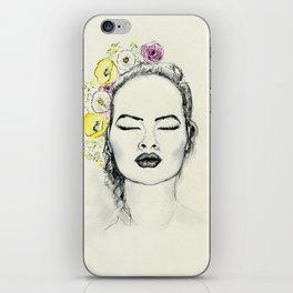 Floral Kiss iPhone Skin
