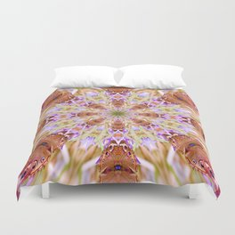The Buckeye Butterfly Kaleidoscope Duvet Cover
