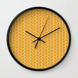 Leaf Wheaten Wall Clock