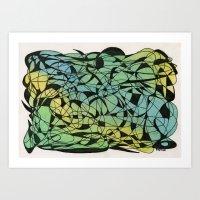 Blue Moth Art Print