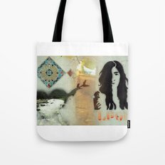 Face, Bird & heart collage Tote Bag