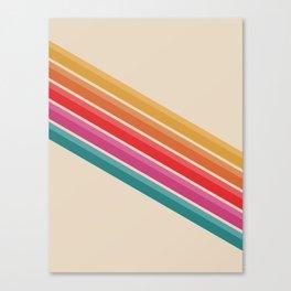 Retro - Downhill #743 Canvas Print