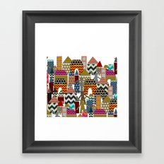 geo town Framed Art Print