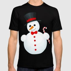 Snowman Mens Fitted Tee Black 2X-LARGE