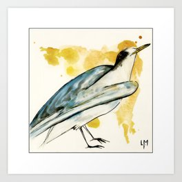 Waiting to Fly Bird Art Print