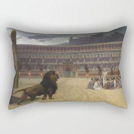 Jean-Leon Gerôme - The Christian Martyrs' Last Prayer Rectangular Pillow