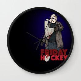 Friday Hockey Wall Clock