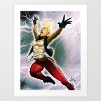 Weather Woman Art Print