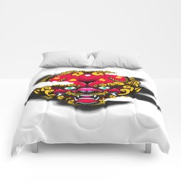 Red Foo Dog Comforters