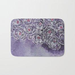 Art-ichoke in purple Bath Mat