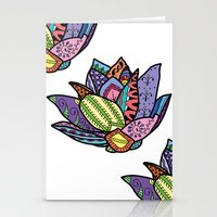 lotus flower Stationery Cards featuring Lotus by Ilse S