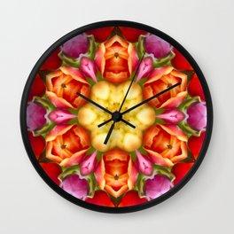 Tulip Kaleidoscope Wall Clock