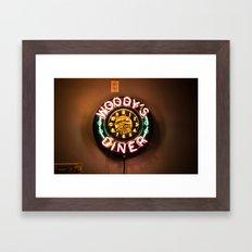 Woody's Diner Framed Art Print