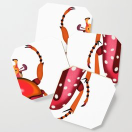 Orange and Red Beetle Coaster