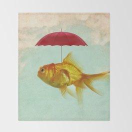 under cover goldfish 02 Throw Blanket