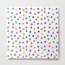 3D Glass Rainbow Cherries Pattern  Metal Print