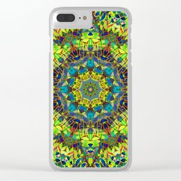 Fractal Floral Abstract G89 Clear iPhone Case