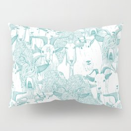 just goats teal Pillow Sham