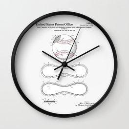 Baseball Patent Wall Clock