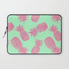 Pineapple Pattern - Mint & Crimson Laptop Sleeve