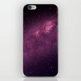 Milky Way in Purple iPhone Skin