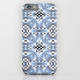Indian Blanket Muted  Blue iPhone Case