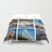 boston Duvet Covers featuring Boston by Jill Deering Creative
