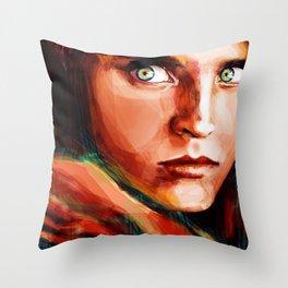 McCurry's Afghan Girl Throw Pillow
