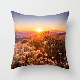 Sunset in Idyllwild, California Throw Pillow