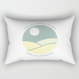Inspirational round print with landscape Rectangular Pillow