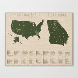 US National Parks - Georgia Canvas Print