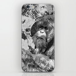 AnimalArtBW_OrangUtan_20170601_by_JAMColorsSpecial iPhone Skin