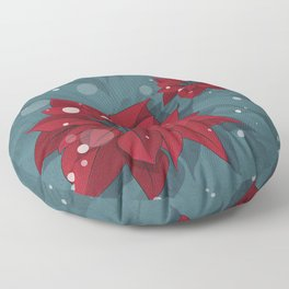 Poinsettias - Christmas flowers | BG Color II Floor Pillow