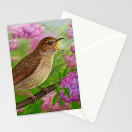 Spring nightingale Stationery Cards
