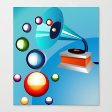 Atomic Music Canvas Print